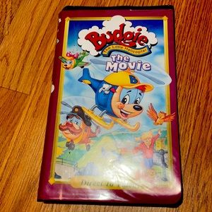 VHS tape budgie the little helicopter the movie